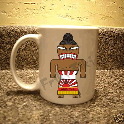 FRIKI-TIKI   Sumo-Tiki   11oz Ceramic Coffee Mug - NEW Collectible