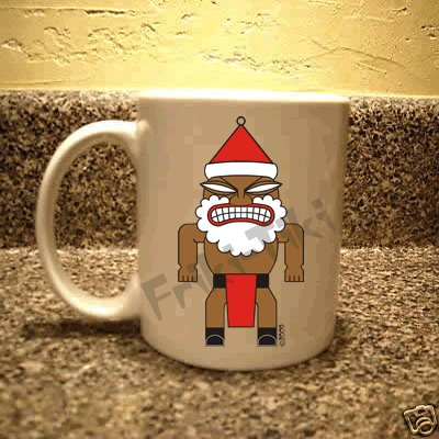 FRIKI-TIKI   Santa-Tiki   11oz Ceramic Coffee Mug - NEW Collectible
