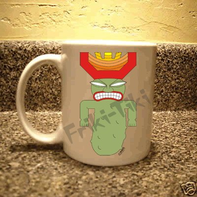 FRIKI-TIKI   Pickle-Tiki   11oz Ceramic Coffee Mug - NEW Collectible