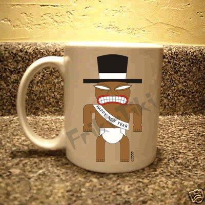 FRIKI-TIKI   New-Year-Tiki   11oz Ceramic Coffee Mug - NEW Collectible