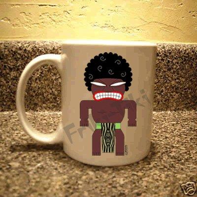 FRIKI-TIKI   Afro-Tiki   11oz Ceramic Coffee Mug - NEW Collectible