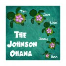 Honu Ohana Customized Family 8x8 or 10x8 Art Print