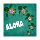 Honu Ohana Aloha or Ohana means Family 8x8 or 10x8 Art Print