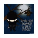 Ninja ART PRINT 8 x 8 (Hug a Ninja) Sad Ninja