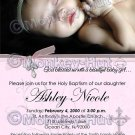Baptism or Christening Personalized Custom Photo Invitation Baby Girl (DIGITAL)