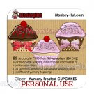 Cupcake Clip Art - PERSONAL USE
