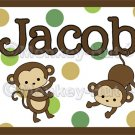 Monkey Monkeys Wall Art Name Print #2
