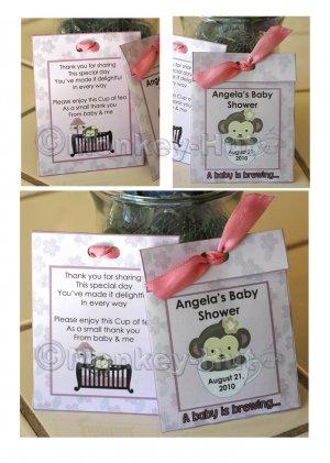 Personalized baby shower TEA BAG or LEMONADE PACKET favors PDF
