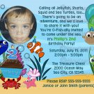 Ocean Under The Sea Birthday Party Invitation (DIGITAL)