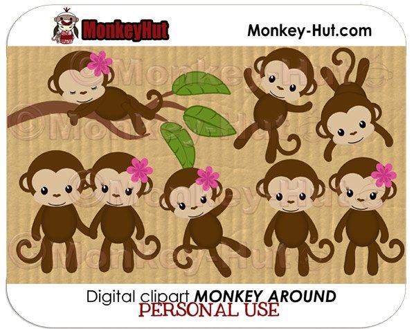 Monkey Around Clip Art set by MonkeyHut