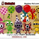 Cute little monster clip art kit