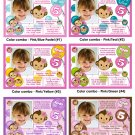 Monkey Girl Birthday Invitation Digital (several colors available)