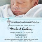 Baptism or Christening Personalized Custom Photo Invitation Baby BOY (DIGITAL)