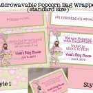 Jungle Jill Microwavable Popcorn Package Wrappers (Personalized Digital PDF file)