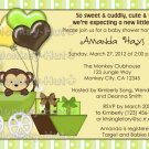 Monkey Baby Shower Invitation Carriage MPP-yellow/green (DIGITAL)