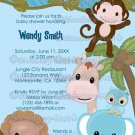 Sweet Jungle Babies Monkey Baby Shower Invitation SJB Boy (DIGITAL)