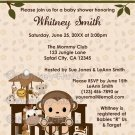 MONKEY Baby Shower Invitation Nali Jungle NJM (DIGITAL)
