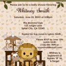 LION Baby Shower Invitation Nali Jungle NJL (DIGITAL)