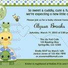 Pond Pals Duck Baby Shower Invitation Frog Turtle PFL (DIGITAL)