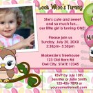 Look Whoo's Turning OWL birthday invitation (photo) DIGITAL