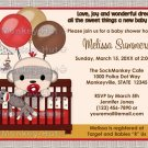 Baby Shower invitation BOY Sock MONKEY Crib SMC-B (DIGITAL)