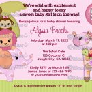 Sweet Safari Baby Shower invitation MONKEY GIRL SST (DIGITAL)