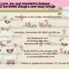 Sweet Dreams LAMB Baby Shower invitation girl SDK (DIGITAL)