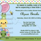 Pond Pals Duck Baby Shower Invitation Gender Neutral PFL-N (DIGITAL)