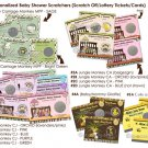 Baby Shower Scratch Off Card Ticket Game Favor - 50 personalized cards