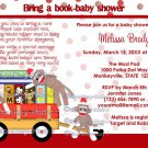 Bring a book baby shower invitation book shower sock monkey (DIGITAL) neutral