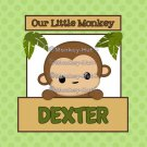 Monkey Art Print Personalized - 10x10