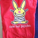 Red Happy Bunny Dog Tank Top Shirt Cute But Psycho Small S