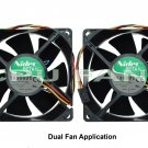 Dell Precision Workstation 450 Fans Dual CPU Case Fans 7P974 92x38mm