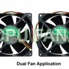Dell XPS 0U231 Dual CPU Case Cooling Fans 92x38mm