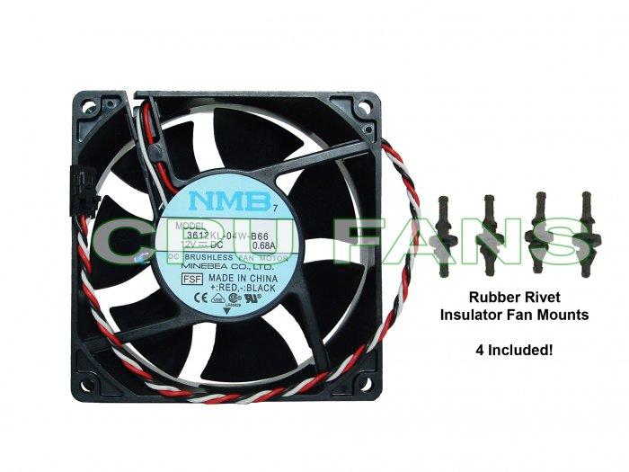 New Dell Dimension 4300 Fan W Rubber Rivet Fan Mounts