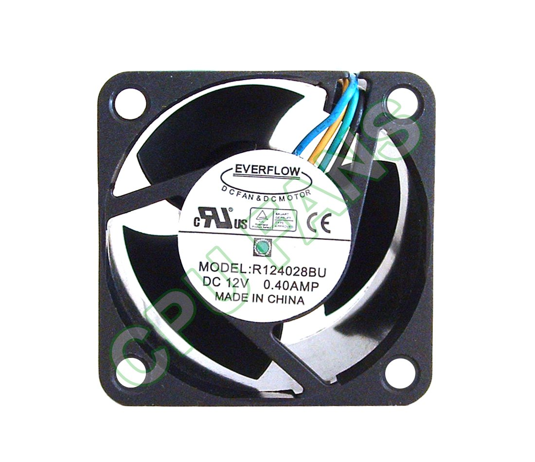Everflow R124028BU Rack Mount Server Fan 40x40x28mm 4-pin/4-wire PWM Cooling Fan