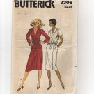 Butterick 3306 Sewing Pattern Misses Wrap Dress 1970s 2 sleeve lengths UC/FF Bust 32.5