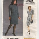 Vogue 1979 Ralph Lauren American Designer Misses 10 double-breasted Dress 1980s Bust 32.5 UC FF