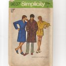 Simplicity 9637 Men's Robe in 2 Lengths 1970s Front Wrap Self Tie Belt XL Chest 46 48