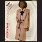 McCall's 9470 Misses Unlined Jacket & Skirt Sewing Pattern Stitch N Save Bust 31.5 32.5 34 1980s