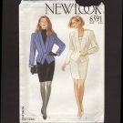 New Look 6591 Sewing Pattern Misses Single button Jacket & straight skirt Waist 24 25 26.5 28 30 32