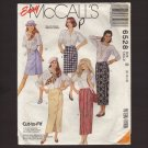 McCall's 6528 Sewing Pattern Misses Wrap Skirt in Two Lengths Waist 24 24 26.5  1990s