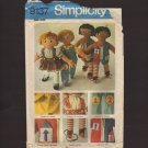 Simplicity 9137 Sewing Pattern 4 Cute Teaching Rag Dolls OOP 1970s