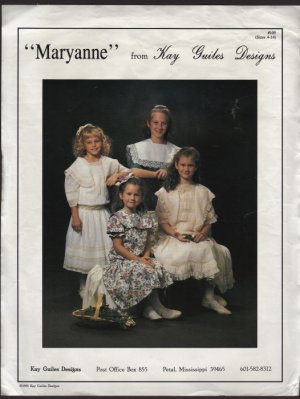 Maryanne from Kay Guiles Designs Girls drop waist dresses Heirloom Style Size 4 � 14 1990s
