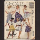 McCall's 4164 Sewing Pattern Misses Skirts Easy Fit Easy Sew Waist 24 25 26.5 1980s