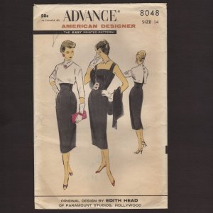Original Edith Head Sewing Pattern Suit with Matching
