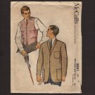 McCall's 5051 Sewing Pattern Men's Blazer Jacket and Vest Chest 34 1950s