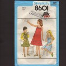 Simplicity 8601 Girls Sundress or Jumper Pullover Belt or elastic waist Sewing Pattern Size 7 1970s