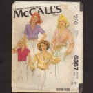McCall's 6367 Misses Set of Blouses Cap, Short, and Long Sleeves Sewing Pattern Bust 36 1970s