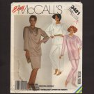 McCall's 3481 Misses Tunic, Skirt and Pants Easy Sewing Pattern Size XL Bust 44 46 1980s